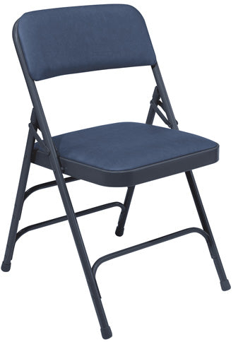 1300 Series Vinyl Upholstered Premium Triple Brace Double Hinge Folding Chair