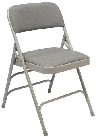 2300 Series Fabric Upholstered Premium Triple Brace Double Hinge Folding Chair