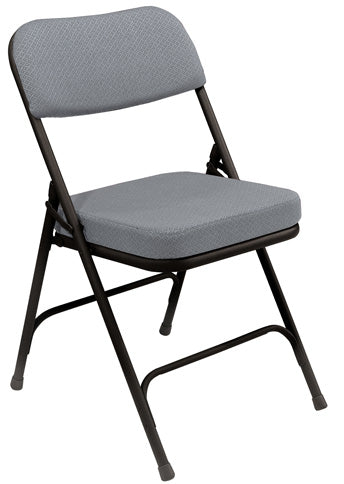 "3200 Series 2"" Fabric/Vinyl Upholstered Seat Folding Chair"