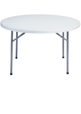 BTR Series Blow Molded Folding Table - Round