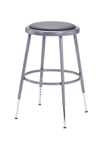 6400 Series Lab Stool with Padded Seat