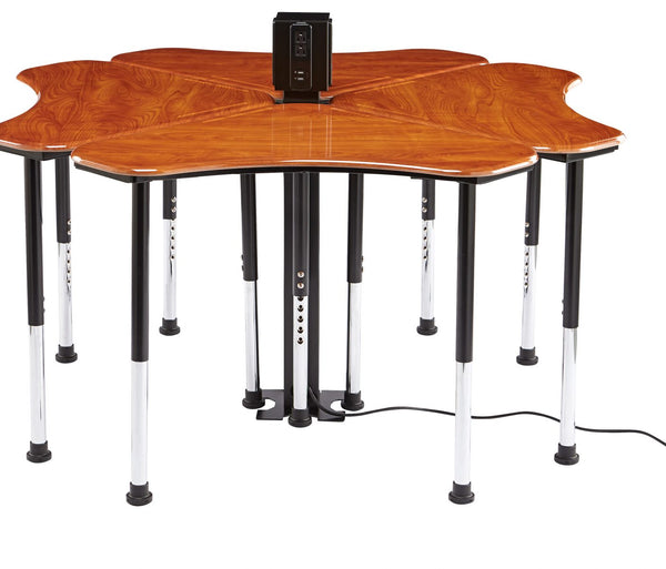 Innovation Series Triangular Collaboration Desk - Standing Height with Hard Plastic Top