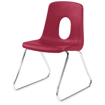 "Classic Seating Series Traditional School Chair - 18"" with Sled Base"