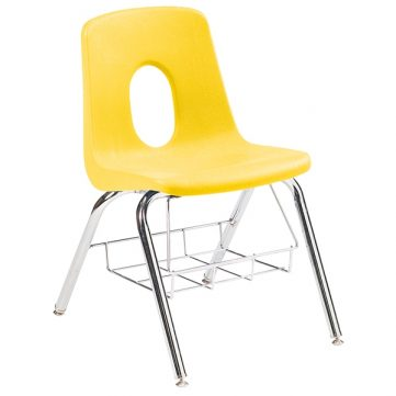 Classic Seating Series Traditional School Chair - with Bookbasket