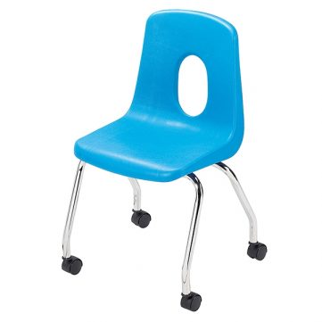 "Classic Seating Series Traditional School Chair - 18"" with Casters"