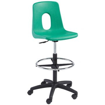 Classic Seating Series Traditional School Chair - Adjustable Height Computer Chair with Draft Kit(no pads)