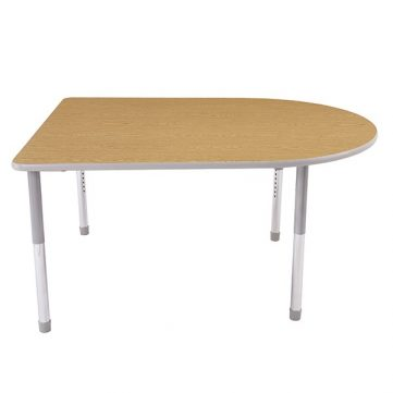 Dura Series Fully Welded Tables - D Shaped Chad Standing Adjustable Height