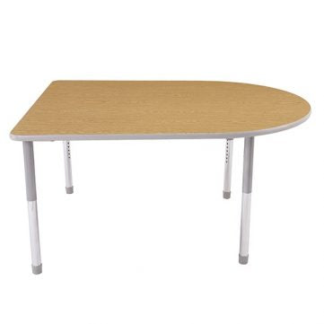 Dura Series Fully Welded Tables - D Shaped Chad Standard Adjustable Height