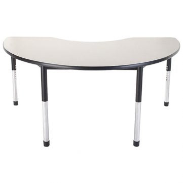 Dura Series Fully Welded Tables - Kidney Standing Adjustable Height