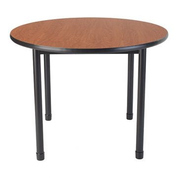 "Dura Series Fully Welded Tables - Round 36"" Standing Adjustable Height"