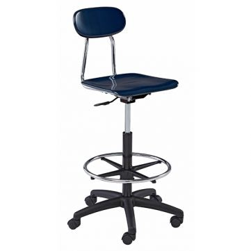 Hard Plastic Seating Series Conventional School Chair - Height Adjustable Computer Chair with Draft Kit