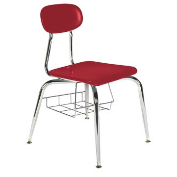Hard Plastic Seating Series Conventional School Chair - with Bookbasket