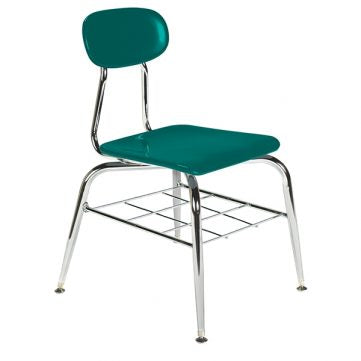 Hard Plastic Seating Series Conventional School Chair - with Bookrack