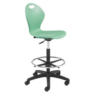 Inspiration Seating Series Ergonomic School Chair - Height Adjustable Computer Chair with Draft Kit
