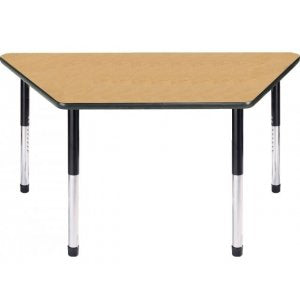 "Dura Series Fully Welded Tables - Trapezoid 60""w Standard Adjustable Height"