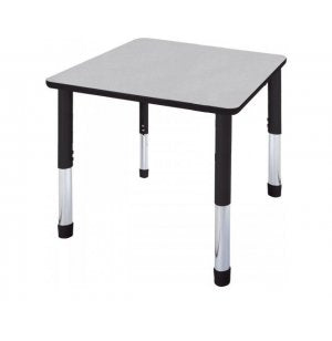 "Dura Series Fully Welded Tables - 48"" Square Standing Adjustable Height"