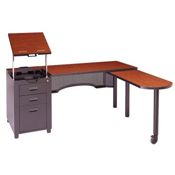 Nate Series Teachers Station with Stationary Podium