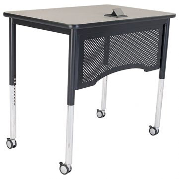 Compact Teachers Desk - Standing Height/Adjustable Height