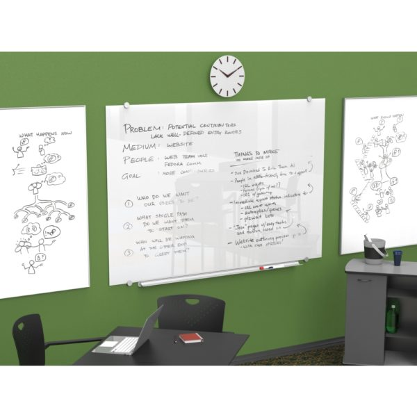Visionary Magnetic Glass Dry Erase Whiteboard