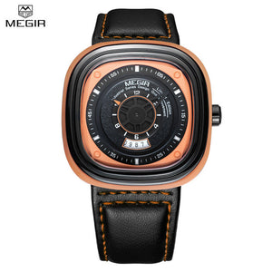 Julien MEGIR Black Square Sports Watch