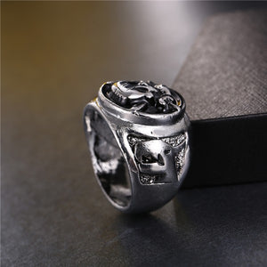 Silver Plated Pirates Skull Ring