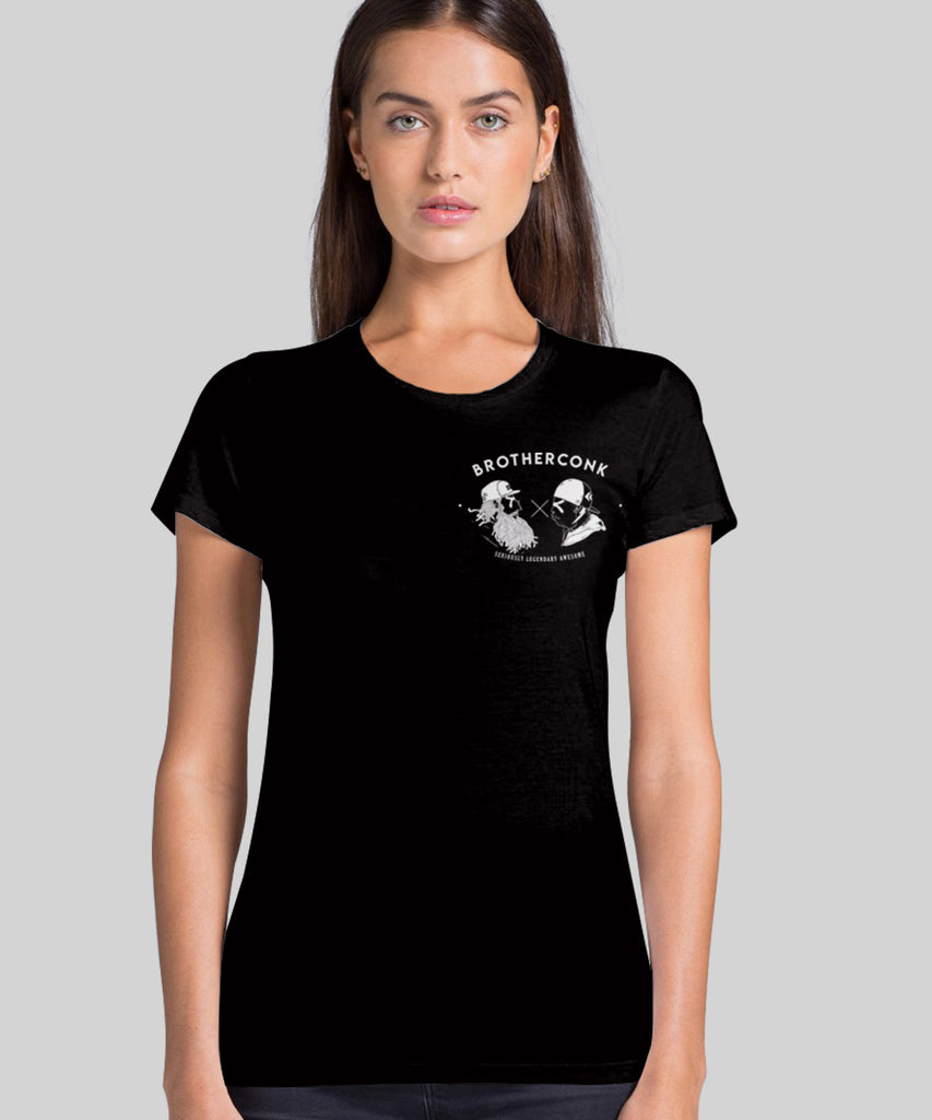 anolo 3 dark   bck Ladies' T-shirt - brotherconk_thexface