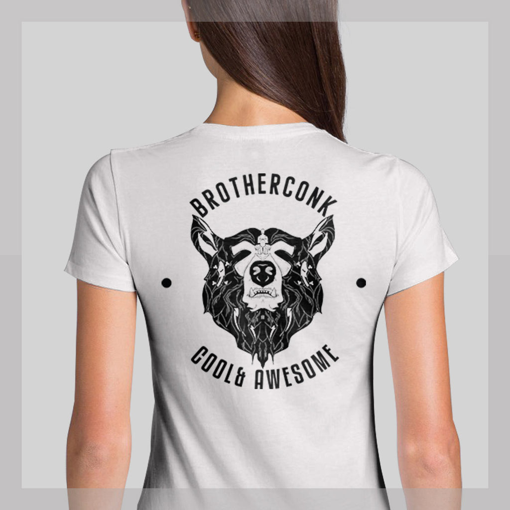 bear round Ladies' T-shirt - brotherconk_thexface