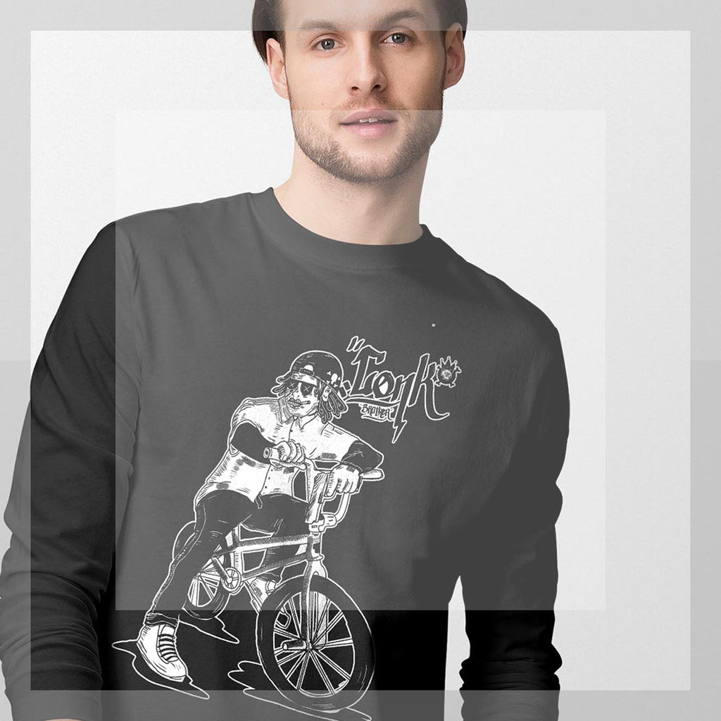 Bike gang #3 Long Sleeve T-Shirt - brotherconk_thexface