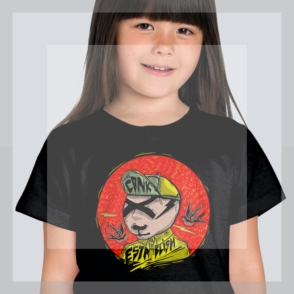 cool panda Youth Short dark Sleeve T-Shirt - brotherconk_thexface