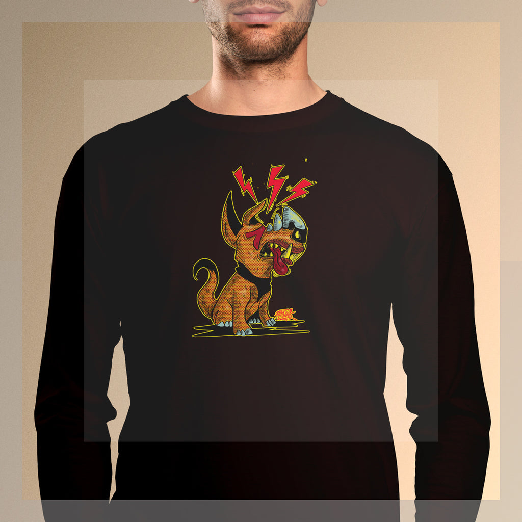 dogisaurus pop #3 Long Sleeve T-Shirt - brotherconk_thexface