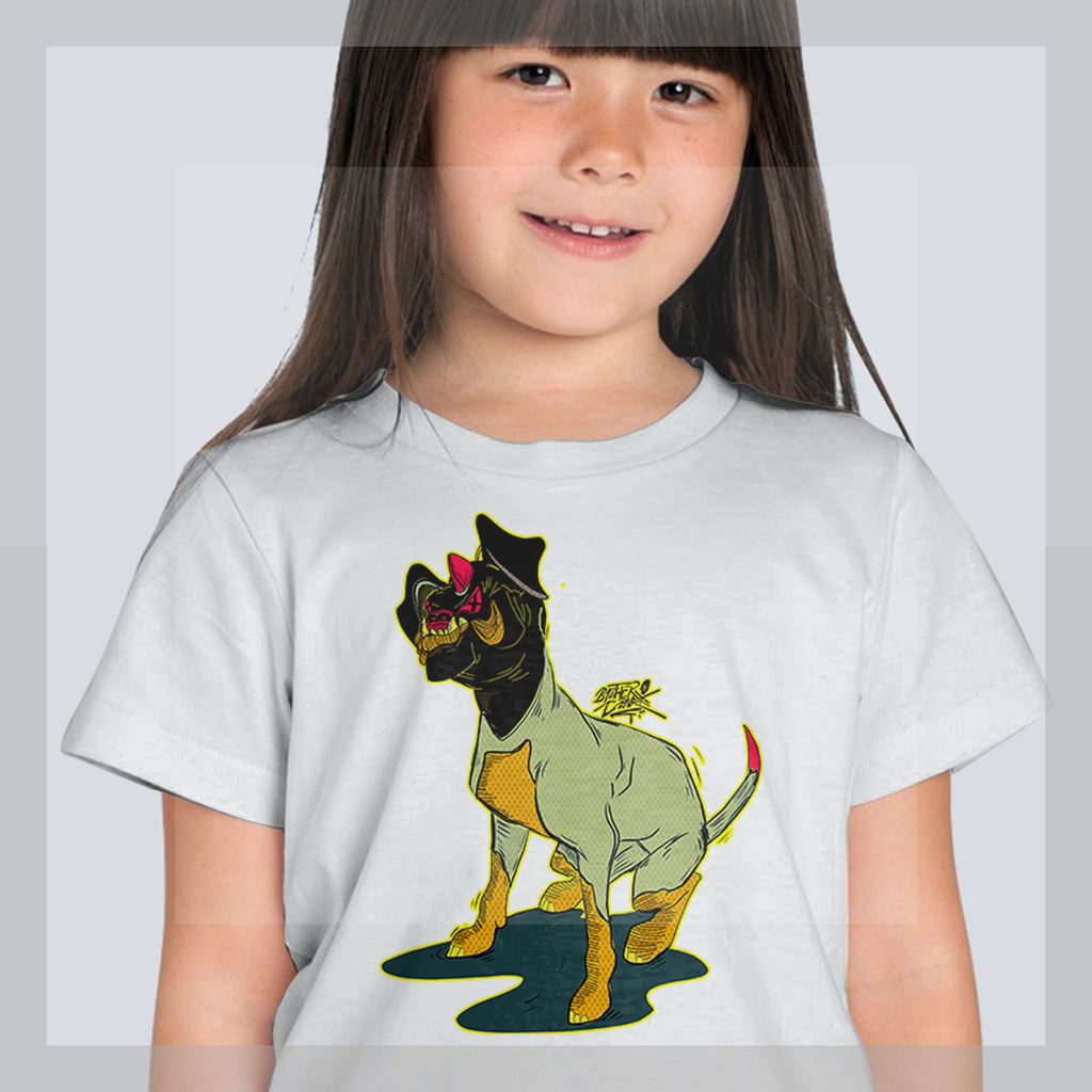 dogisaurus Youth Short  Sleeve T-Shirt - brotherconk_thexface