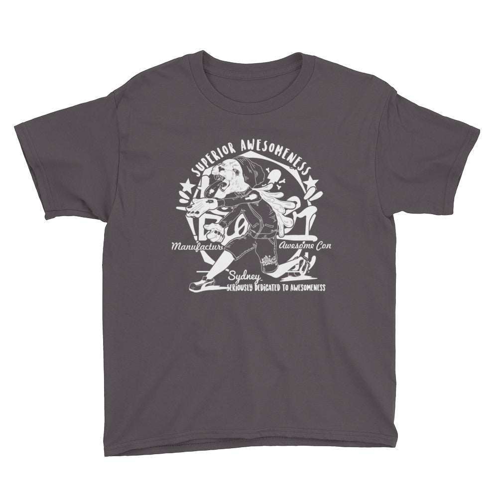 panther round Youth Short Sleeve T-Shirt - brotherconk_thexface