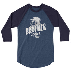 hipster 3/4 sleeve raglan shirt - brotherconk_thexface
