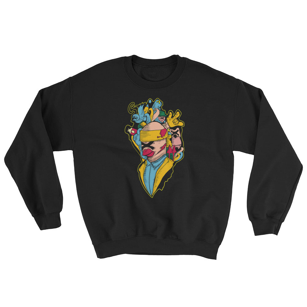 bird man Sweatshirt - brotherconk_thexface