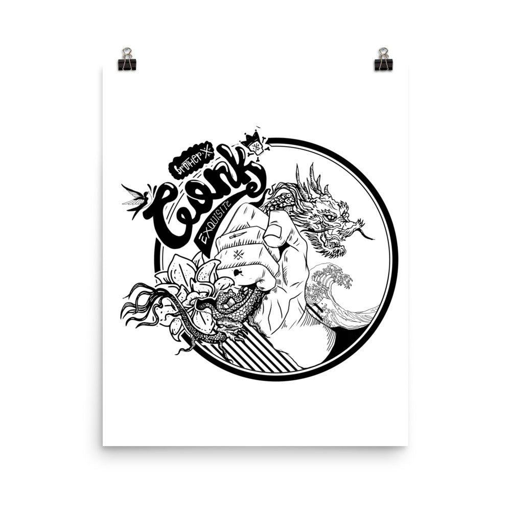 dragon fist Photo paper poster - brotherconk_thexface