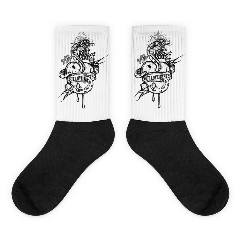 love hurts Socks - brotherconk_thexface