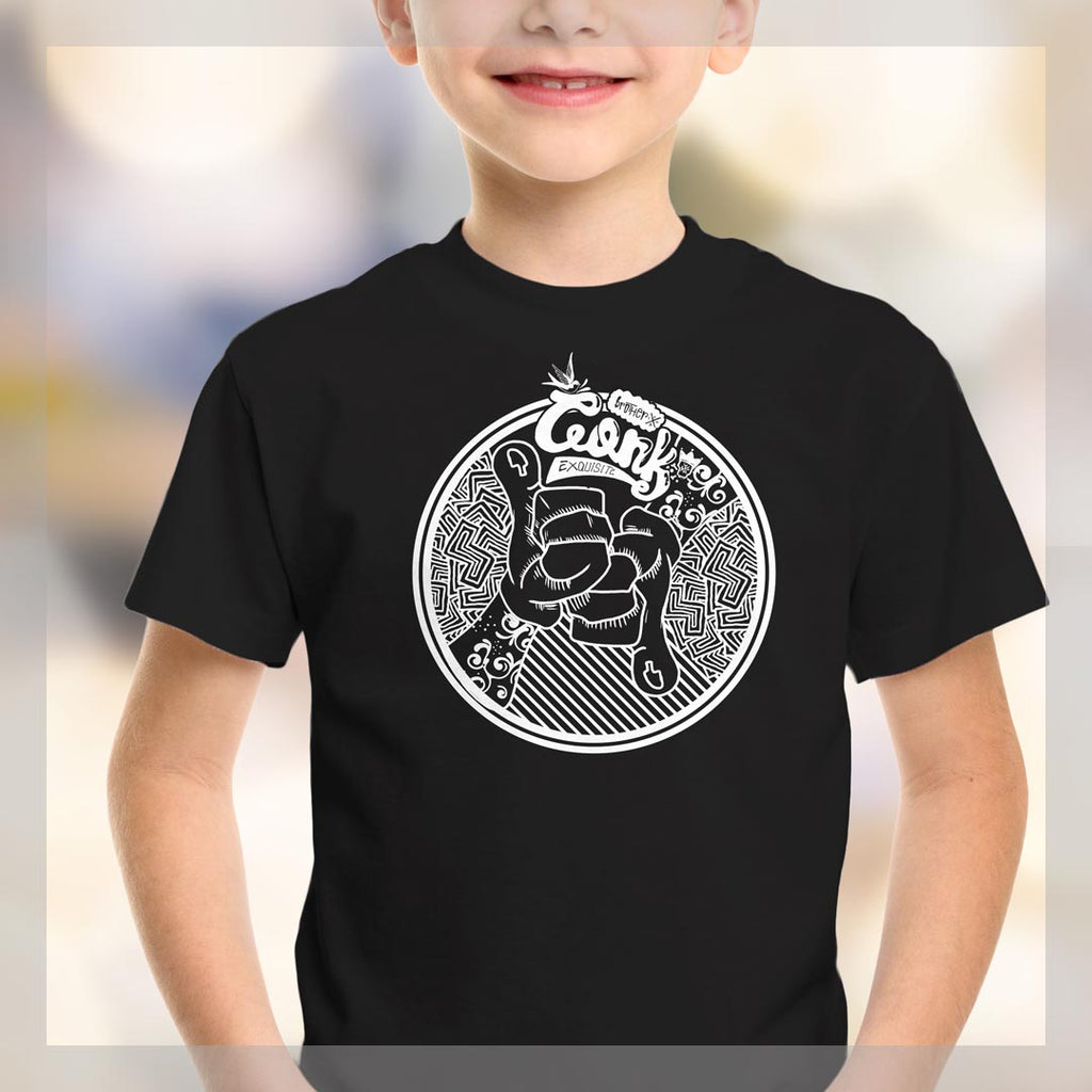thumbs up Youth Short Sleeve T-Shirt - brotherconk_thexface