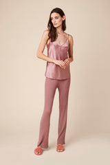 GLORIA SILK CAMI | ROSE