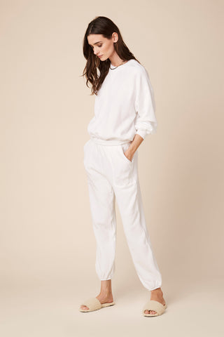 MASON  FLEECE SWEATPANTS | WHITE
