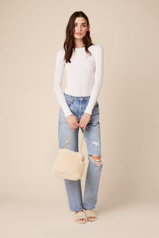 BEL AIR SHEARLING BAG | CREAM