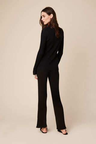 REIGN CASHMERE LONG SHIRT  | BLACK