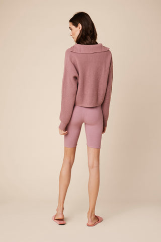 HAYDEN ZIPPERED CASHMERE SWEATER | ROSE