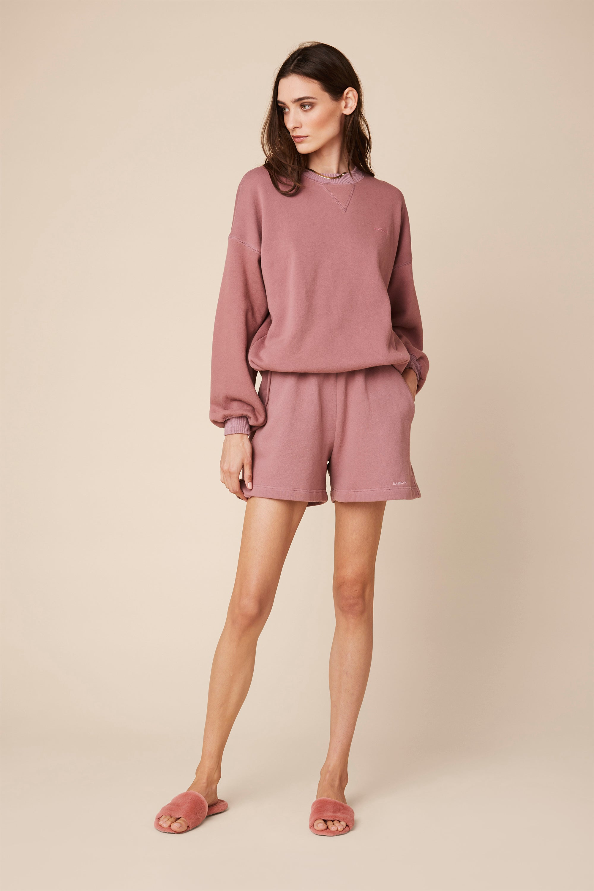 JULES FLEECE SHORT | ROSE