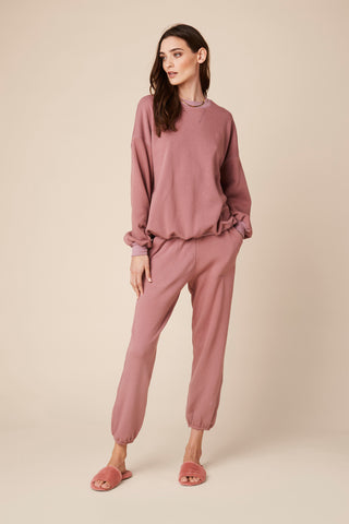 MASON FLEECE SWEATPANTS | ROSE