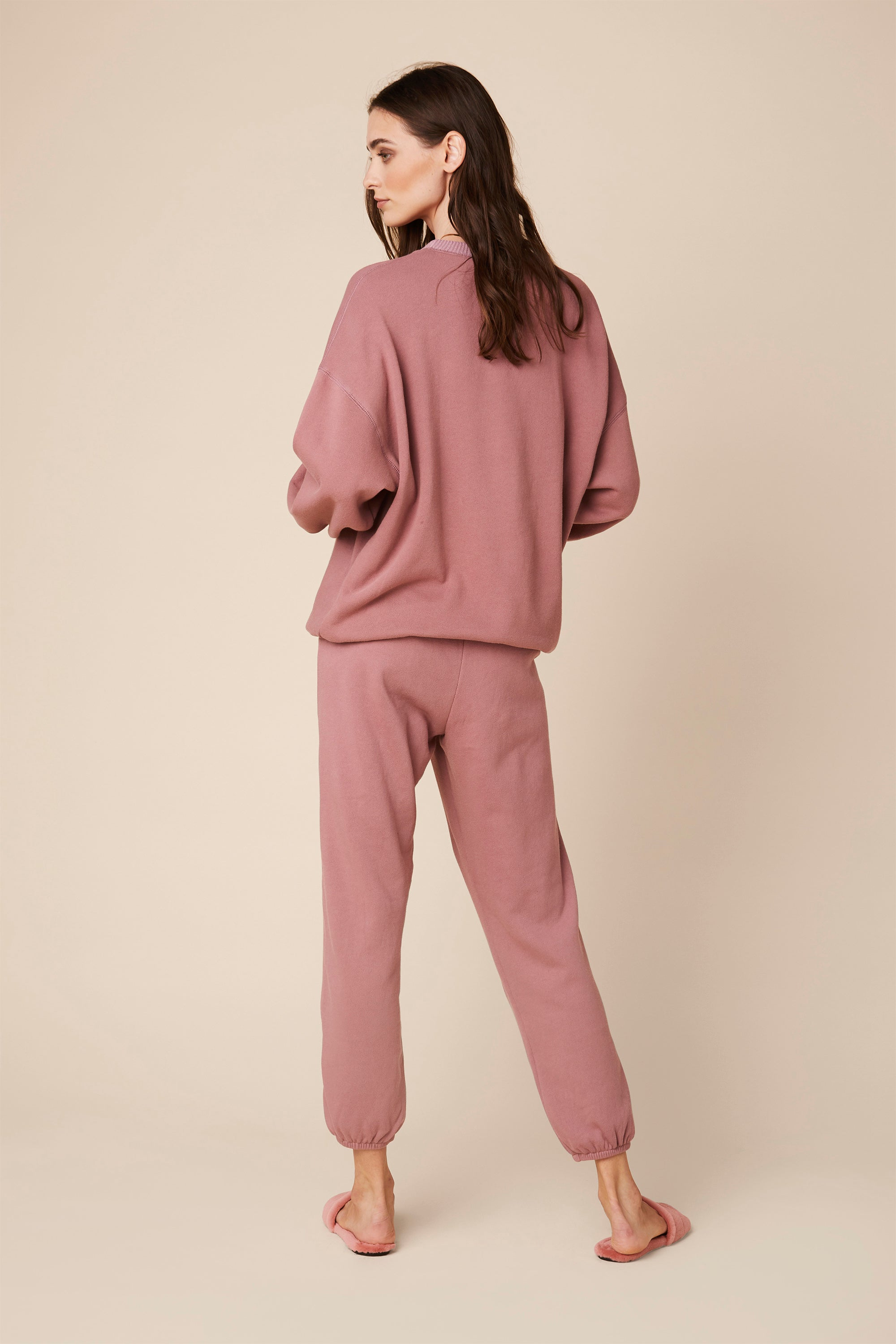 FRANKIE FLEECE SWEATSHIRT | ROSE