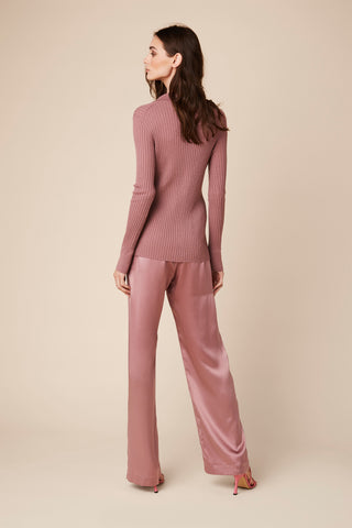 REIGN CASHMERE LONG SHIRT | ROSE