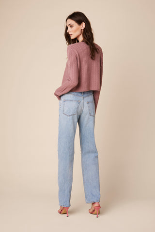 CLEO CASHMERE SWEATER | ROSE
