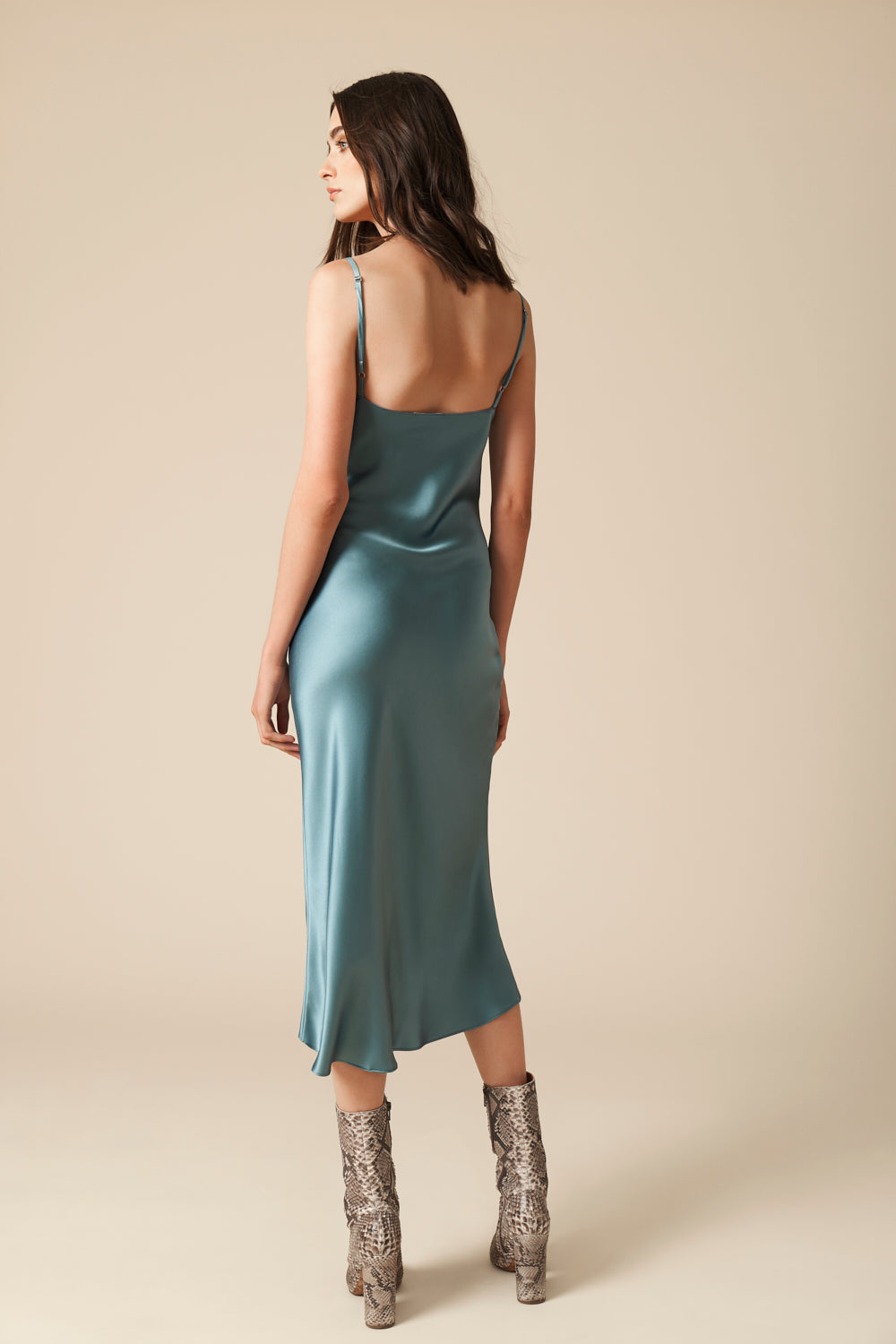 TAYLOR SILK SLIP DRESS | ICE