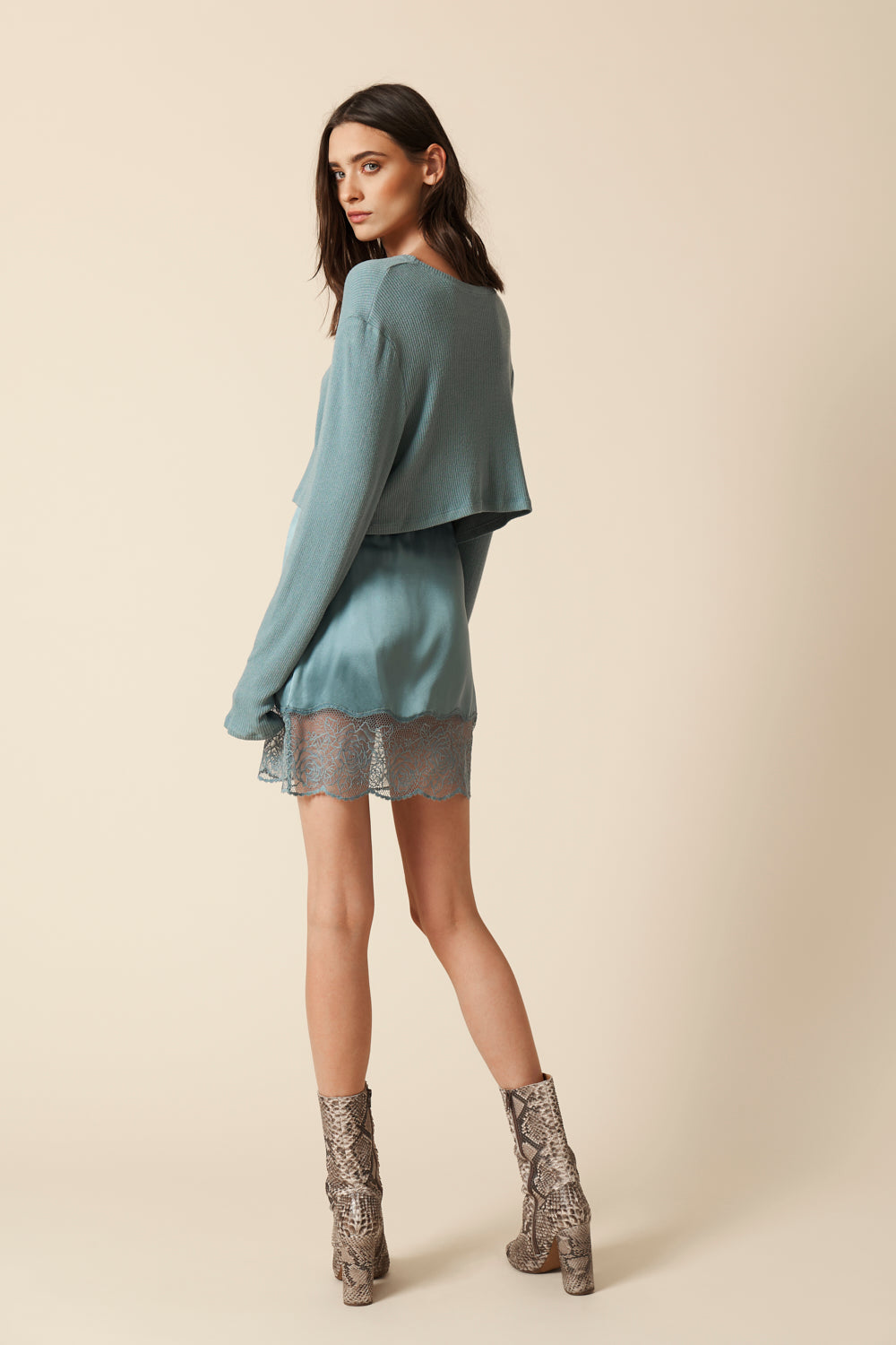 XANDER SILK WITH LACE SKIRT| ICE