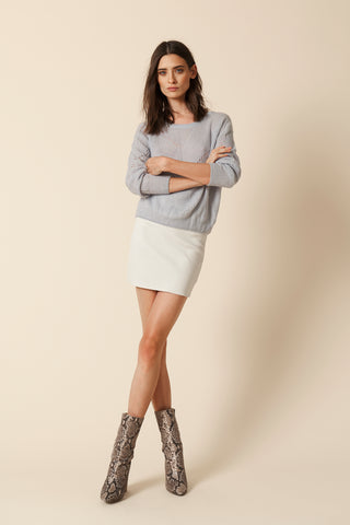 VIOLET-MOHAIR PULLOVER | ICE
